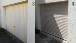 porte  de garage coffre roulant  beige