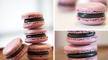 Gluten & Dairy Free Black Cherry French Macarons (with Vegan Buttercream Recipe)