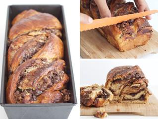 Dairy Free Chocolate & Halvah Babka (Breaded Twist)