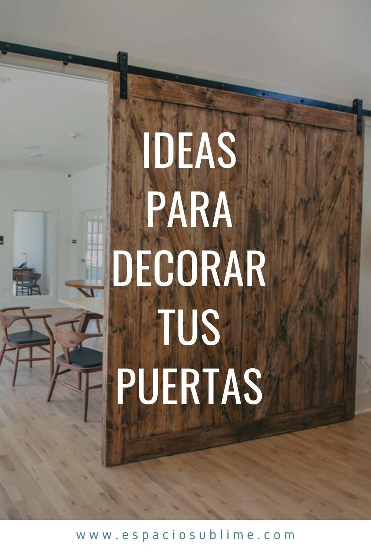 ideas para decorar tus puertas