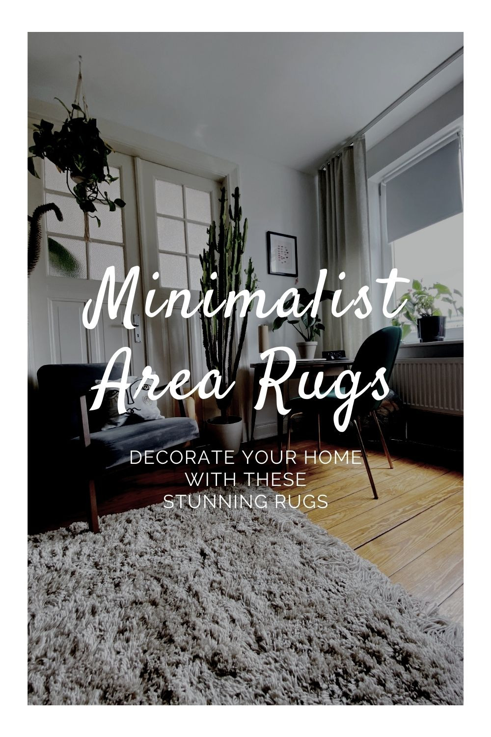 decorate with these minimalist area rugs
