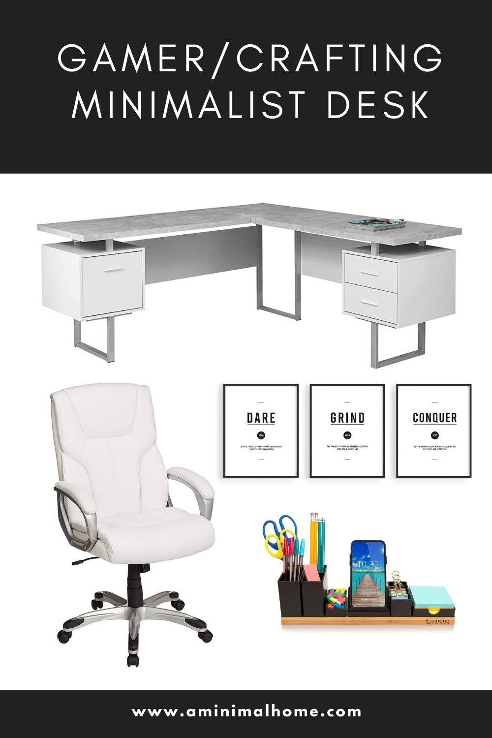 gamer crafting hobby minimalist home office