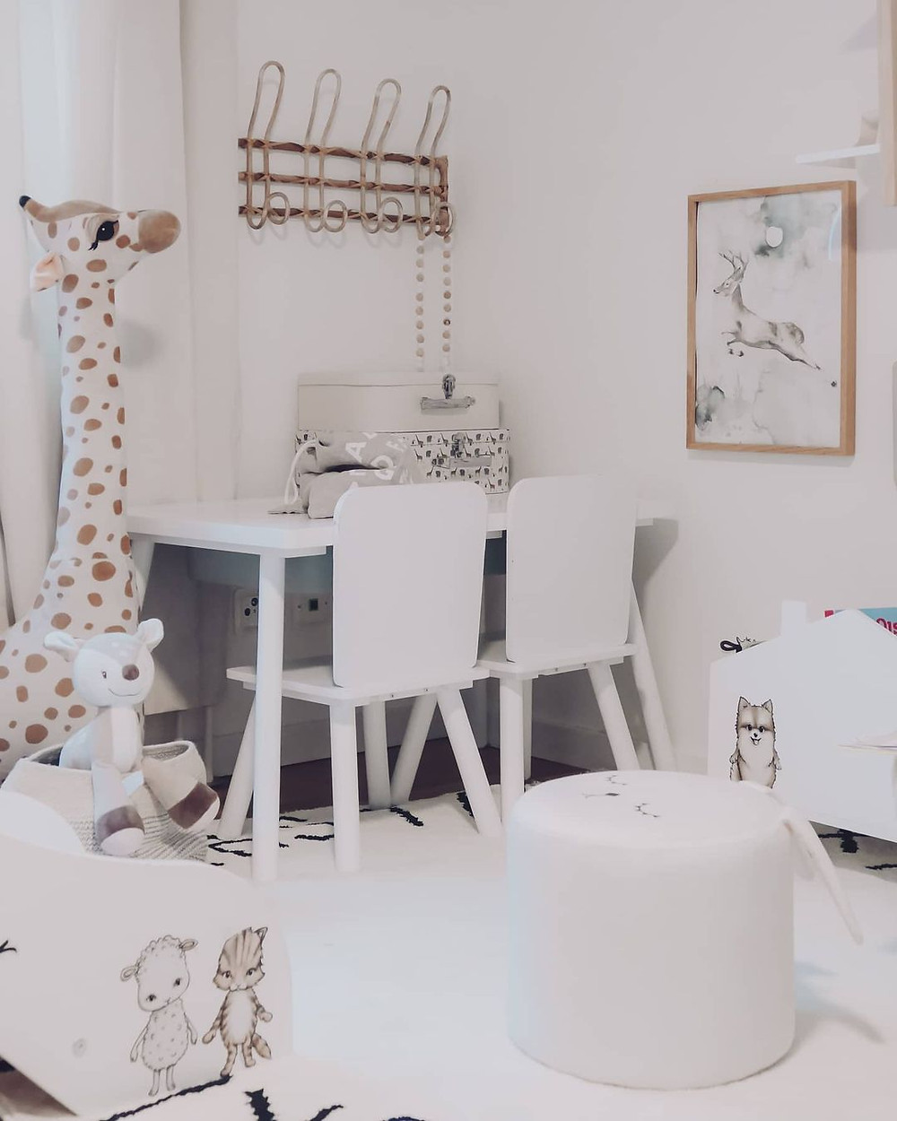 white minimalist playroom