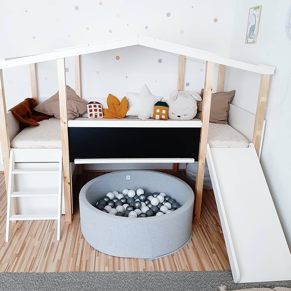minimalist bed kids playroom
