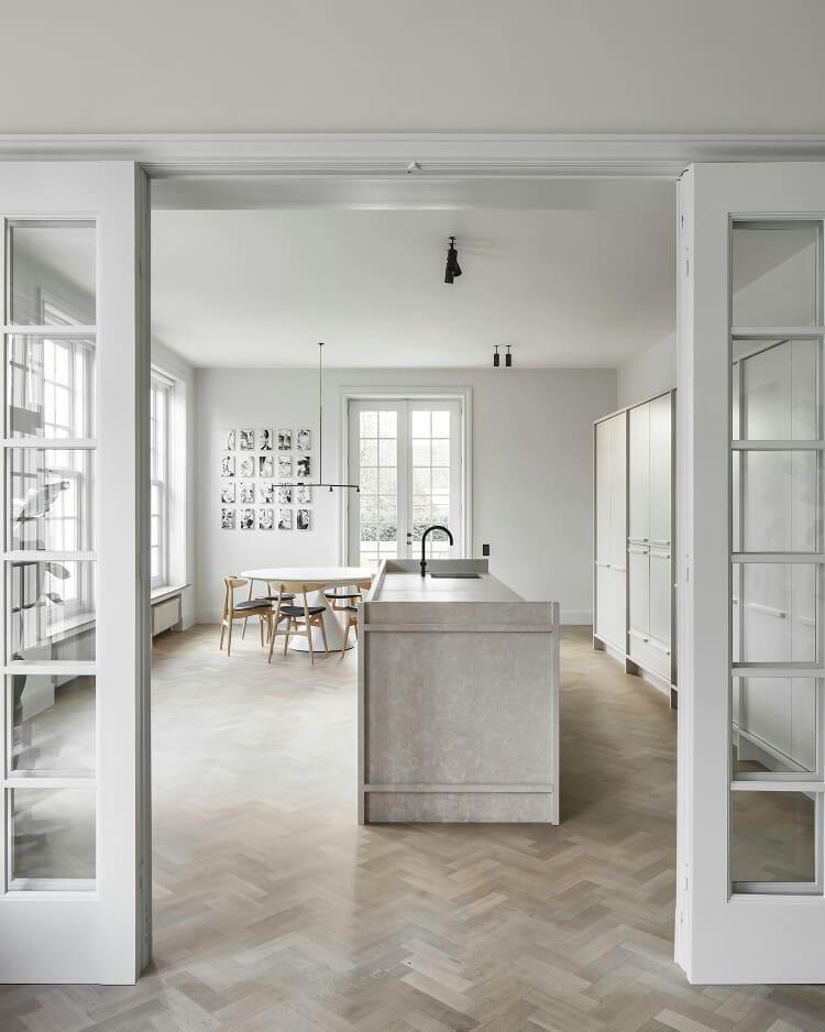 classic white minimalist kitchen