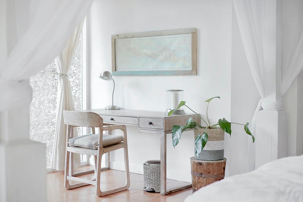 minimalistic white map wall art