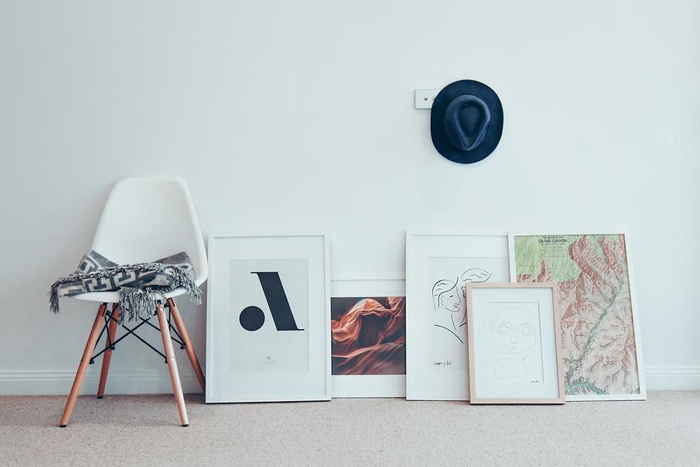 minimalistic wall art decor ideas