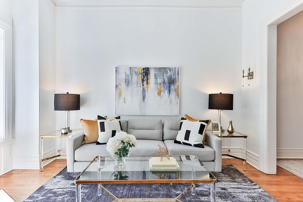 minimalist elegant modern abstract wall art painting