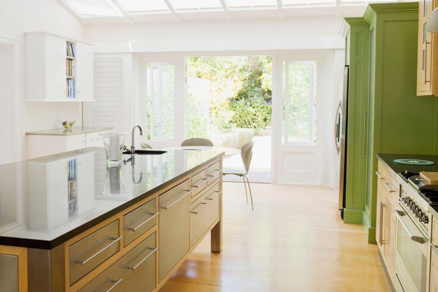minimalist kitchen green classic modern barn