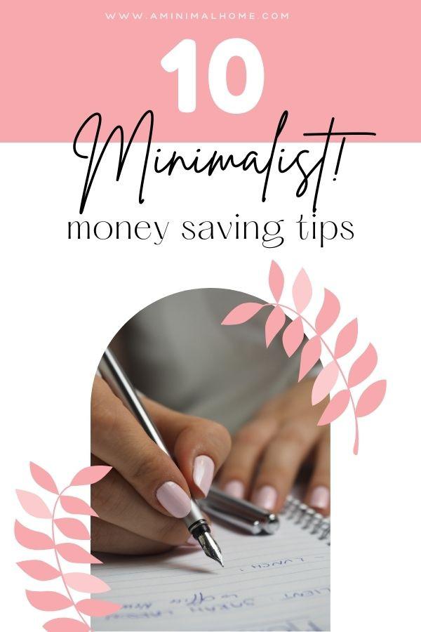 10 minimalist money saving tips