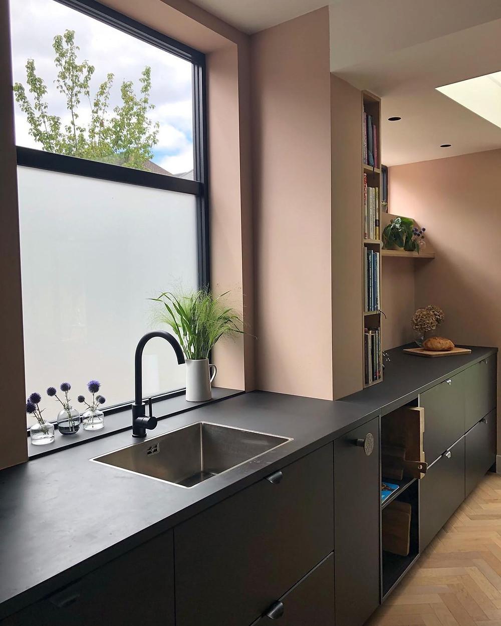 warm minimalist kitchen
