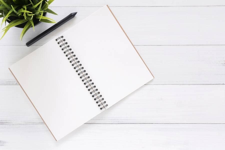minimalist plan notebook