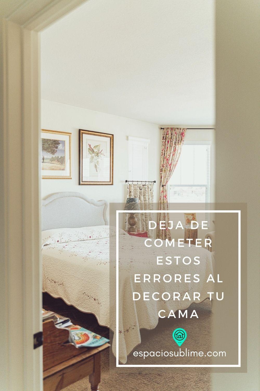 errores comunes al decorar la cama