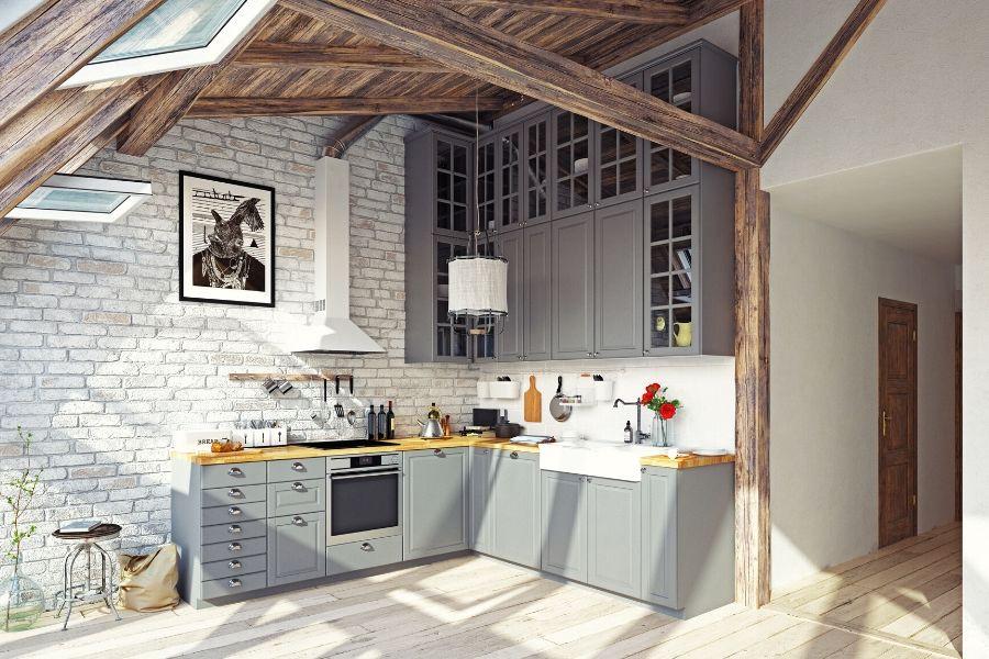 minimalist kitchen with wooden roof modern barn