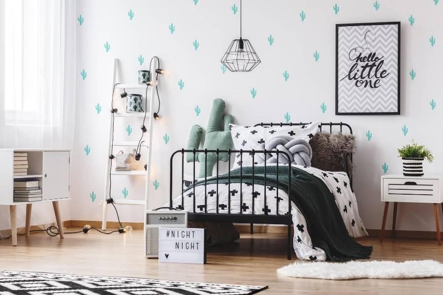 decoracion dormitorio con papel de contacto