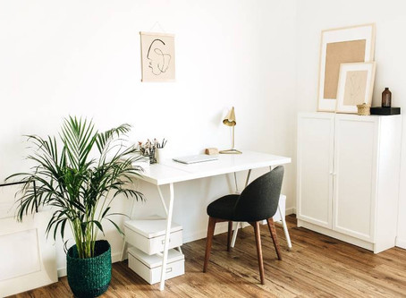 Home office declutter and minimalist office design ideas