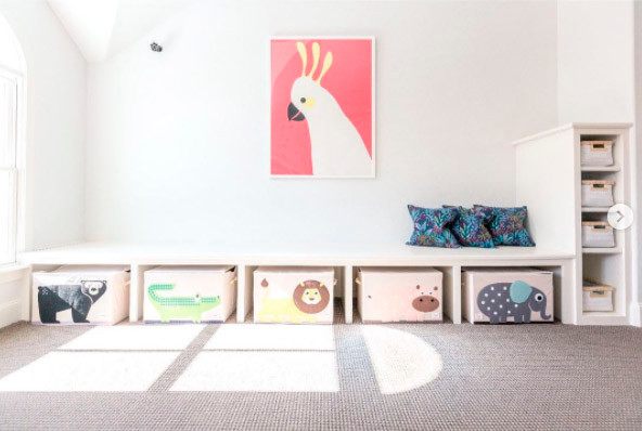 minimalist playroom organization ideas