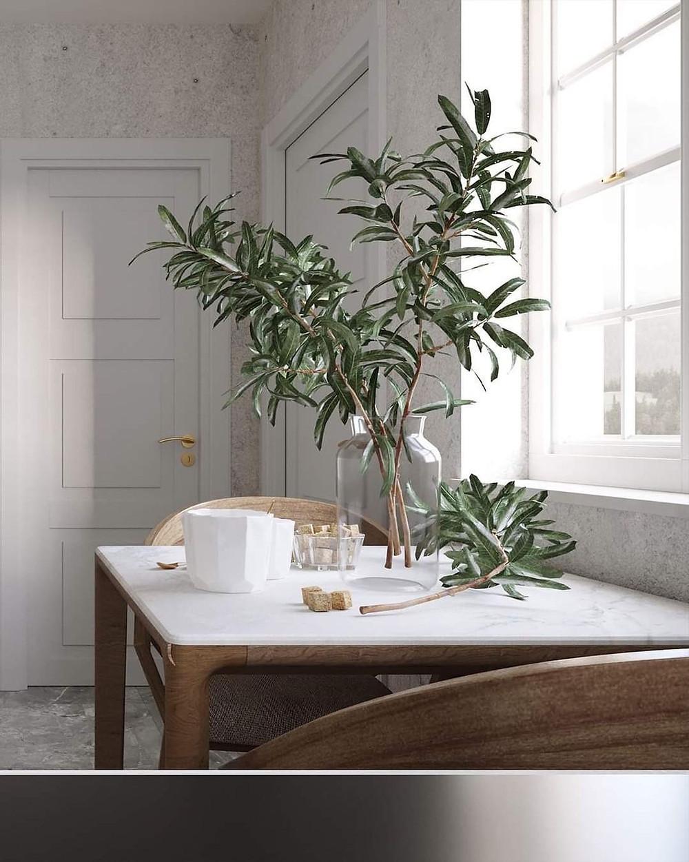 small minimalist kitchen dining table