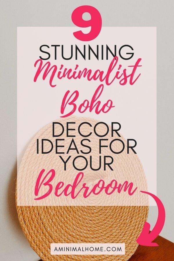 minimalist boho bedroom decor ideas
