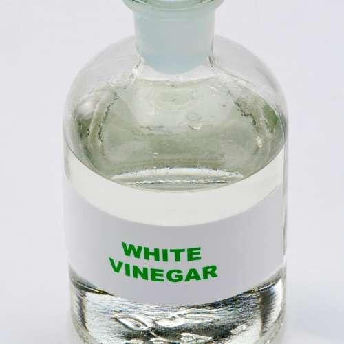 white vinegar to clean
