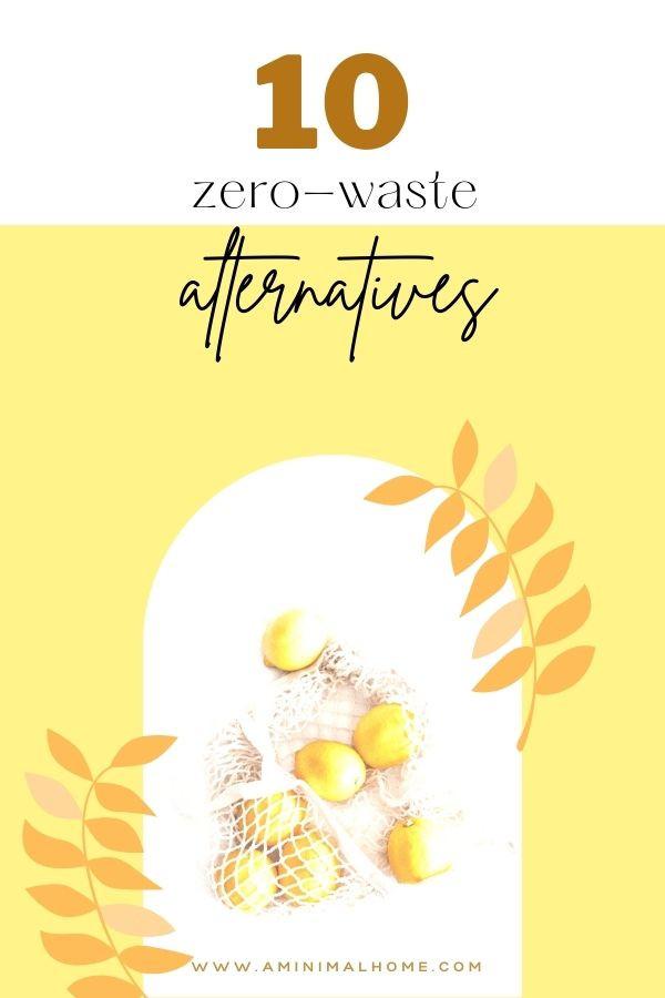 ten zero waste alternatives