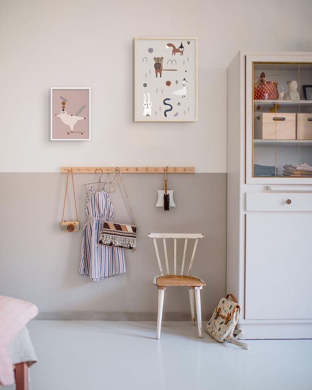 minimalist cozy playroom