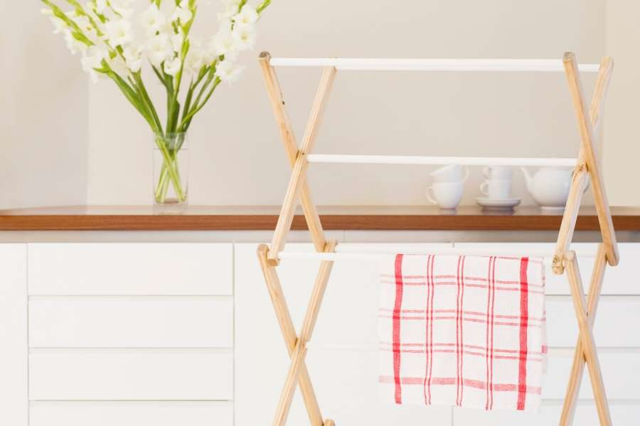 minimalist home foldable drying clothes rack