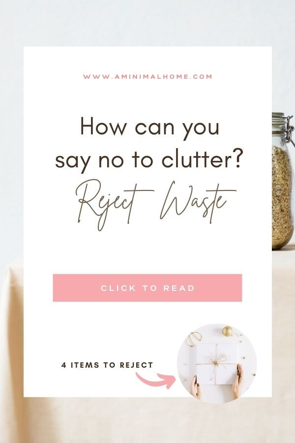 how can you say no to clutter?