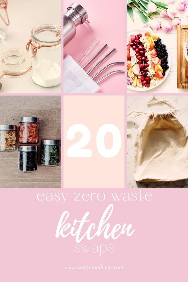 20 easy zero waste kitchen swaps