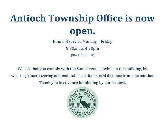 Antioch Township Office is now open-page