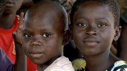 Two children from a Goldmine in Ghana