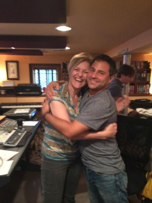 In studio with Karen Mason