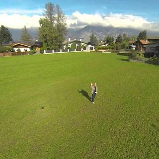 Mit der Drohne über unserem Haus