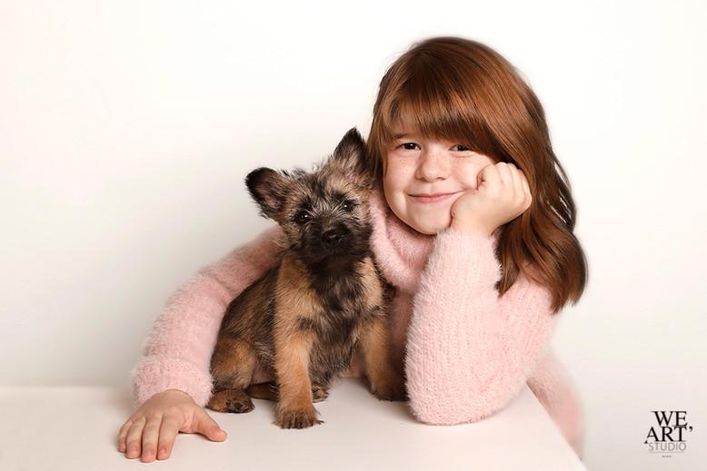 photographe blois portrait enfant chien