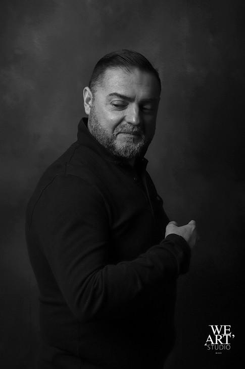 photographe blois 41 portrait studio noir et blanc