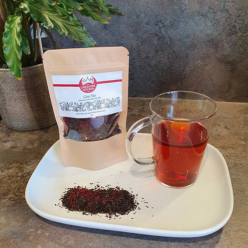 Mood boosting Glee Tea (Cheshire saffron with vanilla or honey loose leaf tea)