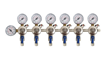 regulador manifold 6 vias mistura chopp