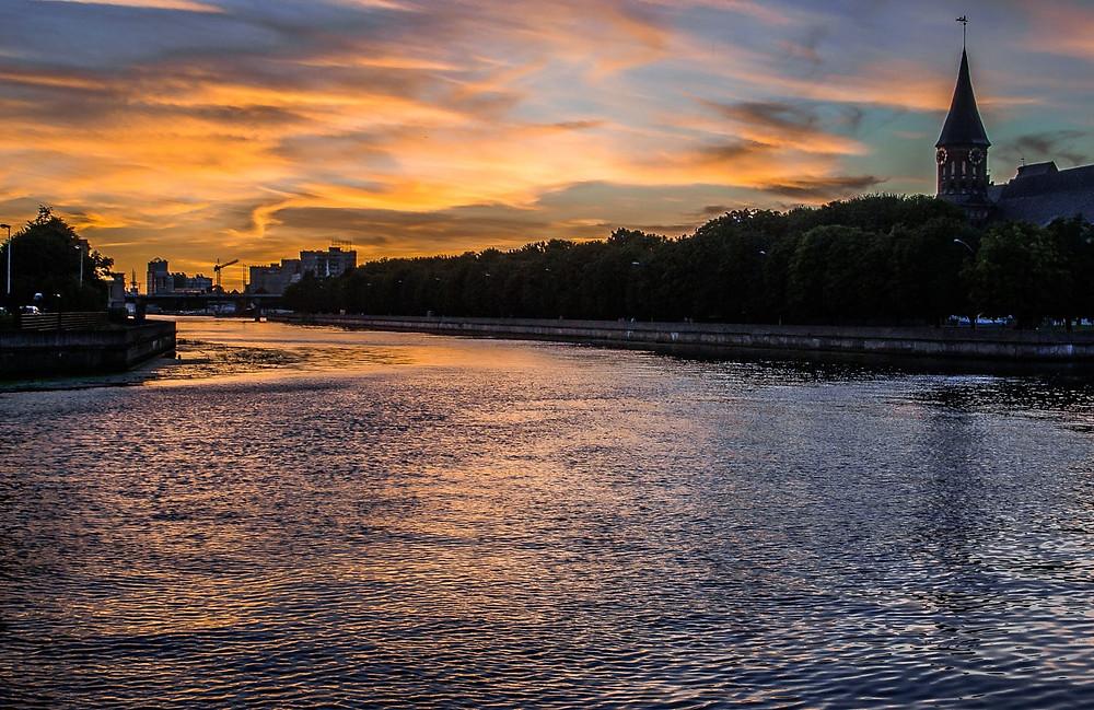 Закат на берегах Преголи