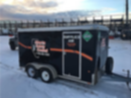 Mobile breathing air trailers for Oilfie