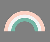 Rainbow grey background, pink, gren, whi