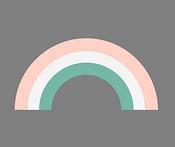 Rainbow grey background, pink, gren, whi