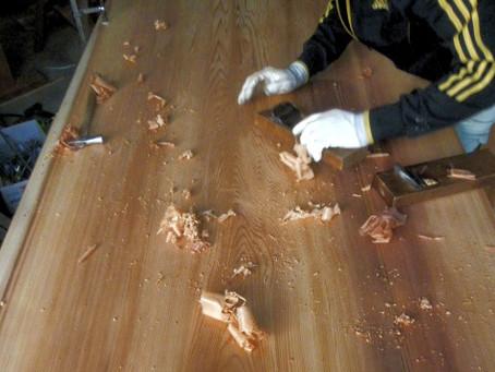 無垢板の1帖畳大きさの天井板