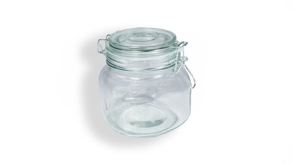Frasco de Cristal con Clip 750 ml