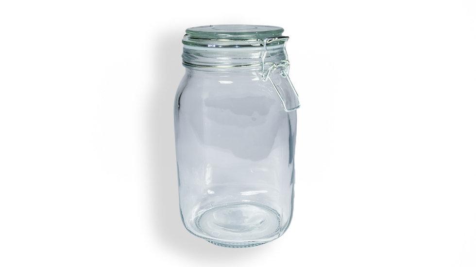 Frasco cristal con clip de 1.5 Lt