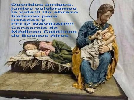 El Consorcio de Médicos Católicos de Buenos Aires les desea una FELIZ NAVIDAD!!!!