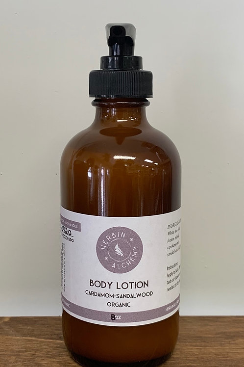 Cardamom-Sandalwood Body Lotion 8oz
