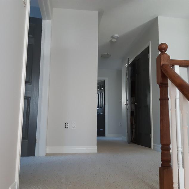Freshly painted stairwell