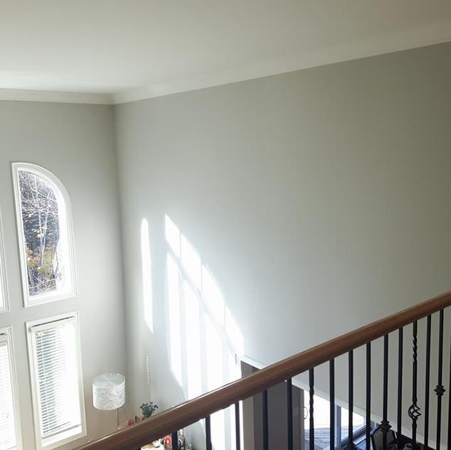 Large windows in repainted room