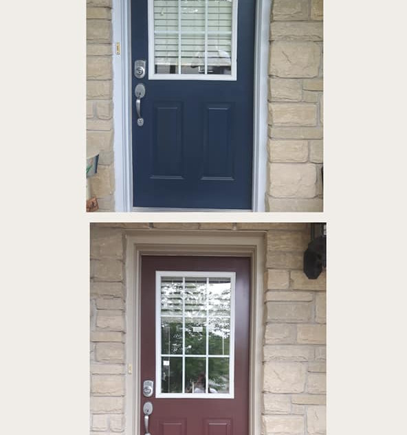 Before and after front doors