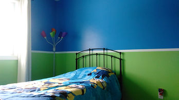 bedroom painted